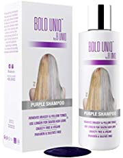 Purple Shampoo For Blonde Hair: Blue Shampoo for Silver and Violet Tones - Banish Yellow Hues: Revitalize Blonde, Bleached & Highlighted Hair - Sulfate Free Hair Toner - 8.45Fl.oz/ 250ml - B Uniq