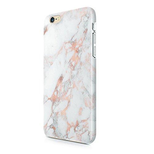 uCOLOR Rose Gold Marble Matt Case Compatible with iPhone 8 Compatible with iPhone 7/6S/6 Case for Girls Soft TPU Protective Case Compatible with iPhone 6S/6/7/8
