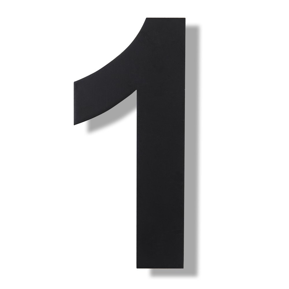 Mellewell modern floating house numbers super large 12 inch black finish stainless steel 18 8 number 1 one amazon com