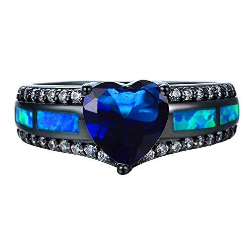 Genuine Blue Zircon Ring - 8