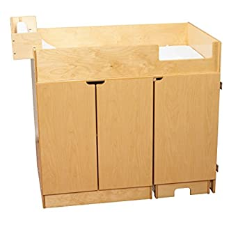 Childcraft 1464150 Changing Table With Steps, 42 X 27 1/8 X 37