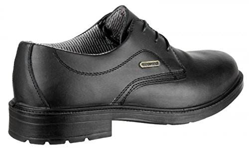 Amblers Safety FS62 Mens Leather S3 SRC W/P Safety Smart Shoes Black Black