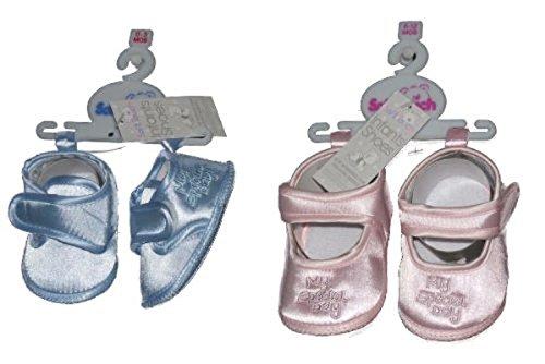 Baby Girl Christening Zapatos de ocasión Pink–3/6Meses
