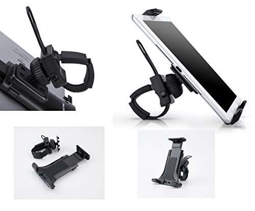 AboveTEK All-In-One Cycling Bike iPad/iPhone Mount, Portable Compact Tablet Holder for Indoor Gym Handlebar on Exercise Bikes & Treadmills, Adjustable 360° Swivel Stand For 3.5-12'' Tablets/Cell Phones by AboveTEK (Image #7)