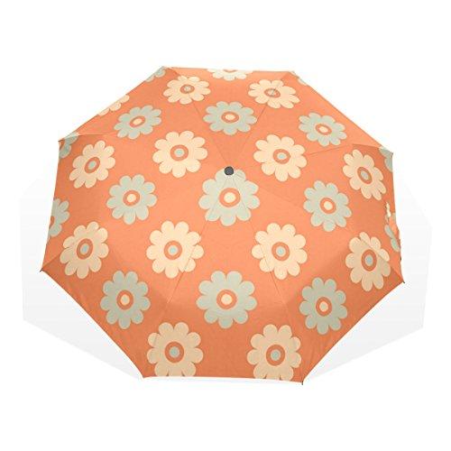WDYSECRET Plum Flower Pattern Folding Umbrella Windproof Nano Umbrella Cloth