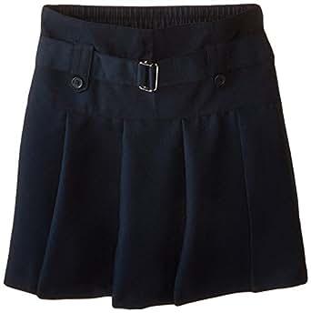 Nautica Big Girls' Uniform Belted Drop Waist Scooter, Su Navy,7