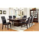 247SHOPATHOME Prudhomme 7-Piece Dining Set, Dark Cherry