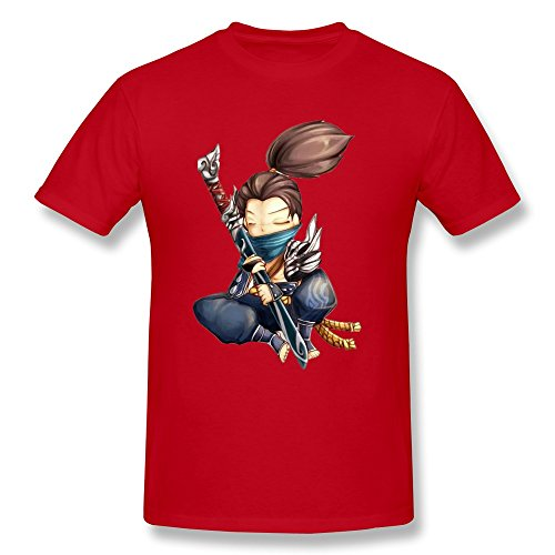 Mens Yasuo T-shirt ColorRed SizeX-Large