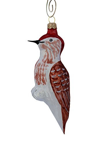 Red-Headed Woodpecker Blown Glass Ornament