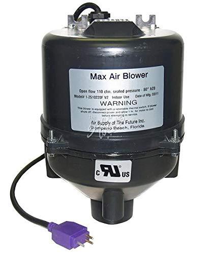 Spa Hot Blower Tub - Hot Tub Classic Parts Vita Spa Max Air Blower, 1 Hp, 240 Volt, 2.5 Amps, with Mini JJ Plug. VIT430105