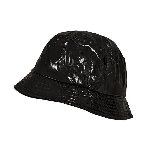 TOUTACOO, Waterproof Wax Style Bucket Rain Hat 01-Black ()