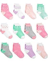 Calcetines para niña de Carter 's Baby (12 unidades)
