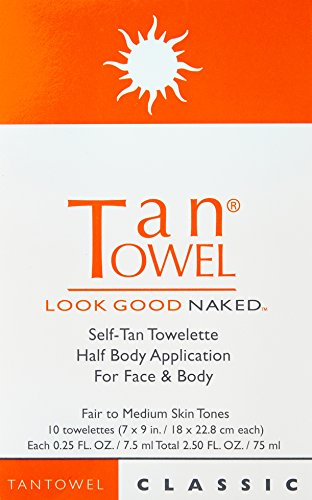 Tan Towel Self Tan Towelette Back