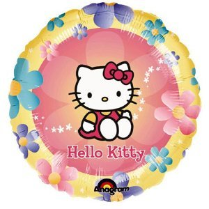 18 Inch Hello Kitty Flowers - Hello Kitty Mylar Balloon 18