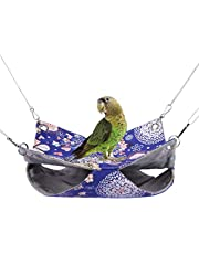 Warm Double Hammock Bird Nest Bed Toy for Pet Parrot Budgie Parakeet Cockatiel Conure Cockatoo African Grey Amazon Lovebird Finch Canary Hamster Rat Gerbils Chinchilla Cage Perch