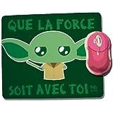 "Tapis De Souris Yoda "" Que la force soit avec toi "" (Star Wars) Chibi Kawaii by Fluffy Chamalow - Fabriqué en France - Chamalow Shop"