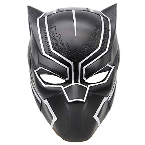Black Panther Mask Helmet Costume Props for Men Halloween Cosplayt V1]()