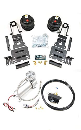 TS - Fits Ford F250 F350 Super Duty 05-10 Pickup Truck Towing Assist Helper Air Ride Suspension Kit Complete With In-Cab Air Management Control System (No Air Tank Needed) 4WD