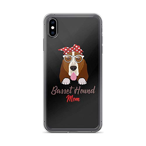 iPhone Xs Max Pure Clear Case Cases Cover Basset House Mom - Vintage Dog TPU Anti Bumps Scratches Cover