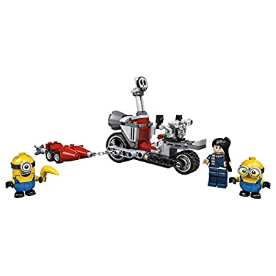 LEGO Minions Unstoppable Bike Chase (75549) Minions Toy Building Kit, with Bob, Stuart and Gru Minion Figures, Makes a Great Birthday Present for Minions Fans, New 2020 (136 Pieces): Toys & Games