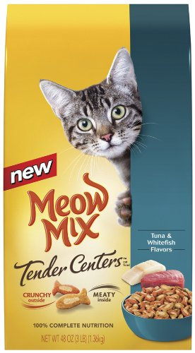 Meow Mix Tender Centers Tuna and Whitefish, 3-Pound (Pack of 3), My Pet Supplies