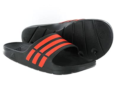 eb594d1c2469 Adidas Mens Duramo Slides Flip Flops - Black - 11UK  Amazon.co.uk ...