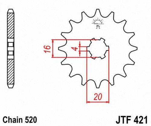 JT Sprockets JTF421.11 11T Steel Front Sprocket