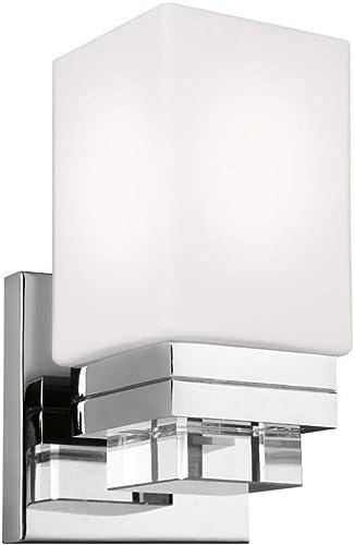 Feiss VS20601PN Maddison Crystal Wall Vanity Bath Sconce Lighting