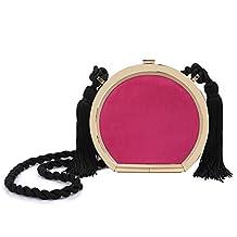 Migubal Round Evening Clutch Bag Night Clutch Pure Color Purse Shoulder Handbag For Prom Bnaquet Party