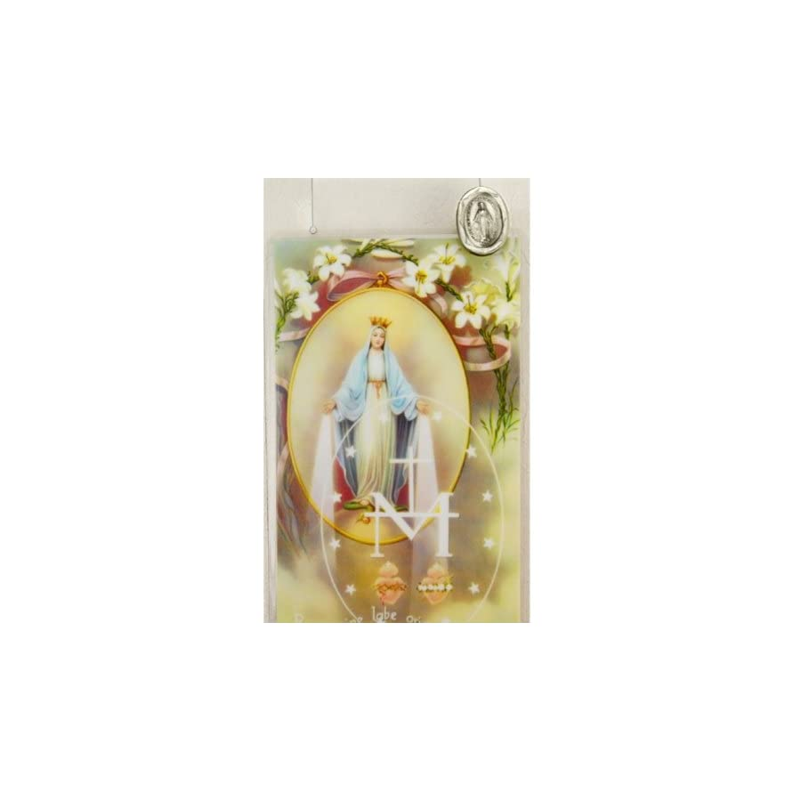 Miraculous Medal Lapel Pin and Prayer Card Set (McVan PC801MI)
