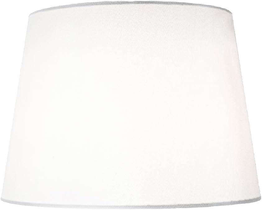 Petit Abat-jour /à pince traditionnel forme tambour de 6 po en tissu simili soie noir par Happy Homewares