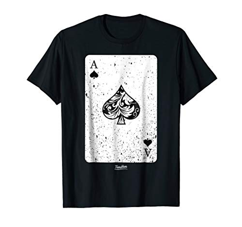 Ace Of Spades Halloween Costume Deck Card Poker Player Shirt