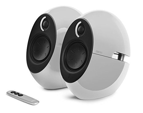 Edifier USA e25HD Luna Eclipse HD 2.0 Bluetooth Speakers with Digital Optical Input (White) by Edifier USA