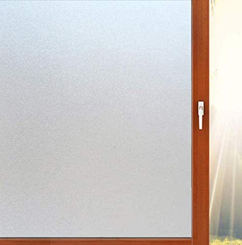 Aibily Privacy Adhesive Window Film,Frosted Glass Sticker for Bathroom/Kitchen/Home,Etched Glass Vinyl Film for Heat Control/Glare Blocking(17.7x78.7In.)
