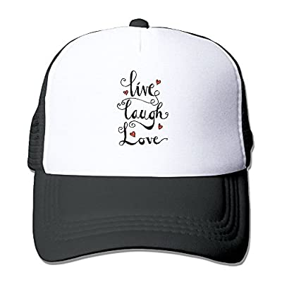 Live Laugh Love Men's Women's Adjustable Snapback Hats Trucker Cap | Baseball Caps Mesh Back