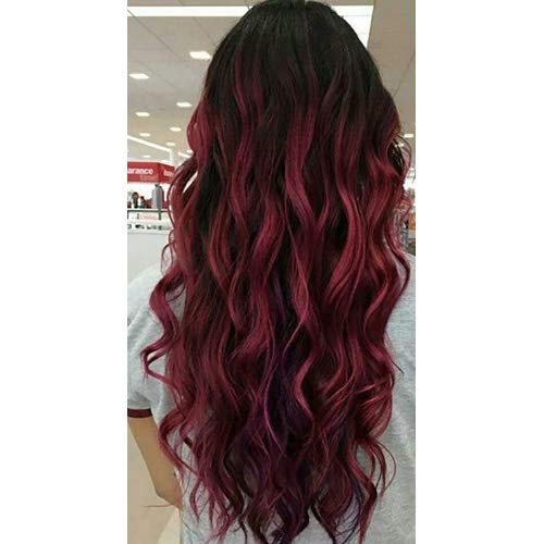 Beauty Makes 20 Inch Tape on Balayage Hair Glue in #1B Off Black Fading to #99J Real Human Glue in Hair Extensions 20 PCS Tape in Skin Weft Straight Extensions Ombre 50 Grams