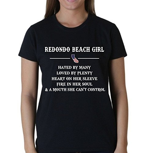 State Heart - Redondo Beach CA Girl. Heart on Her Sleeve. Fire in Her Soul. Mouth can't control - Roomy Unisex Fit - T-Shirt - - Redondo Beach Kids Fit