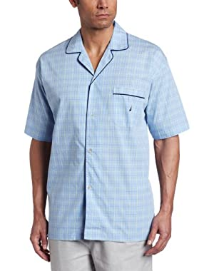 Men's Seaview Plaid Camp Sleep Shirt