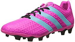 adidas Performance Women's Ace 16.4 FXG W Soccer Shoe,White/Gold/Black,6.5 M US