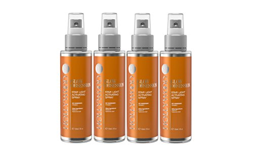 GLOW OBSESSION - 20% Vitamin C Facial Spray. Anti-aging and deeply moisturising. 4x STONGER than the competitors. With 10% Hyaluronic Acid, 1% Vitamin E + Witch Hazel. 150 ml (4 Bottles) by hollywoodskin (Image #1)