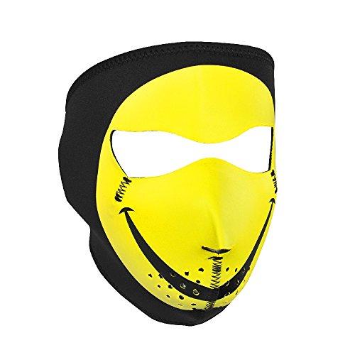 ZANheadgear Neoprene  Smiley Face  Design Face Mask (Multicolor, One Size)