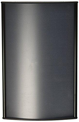 Displays2go negro aluminio oficina signos visualización 5x 9inches Graphics, Horizontal o Vertical Mount, Mate lente,...