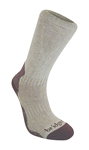 Bridgedale Women's Bamboo Crew Socks, Aubergine, Medium