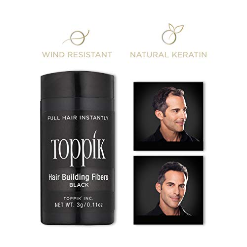 - Toppik Hair Building Fibers, Black, 3 g