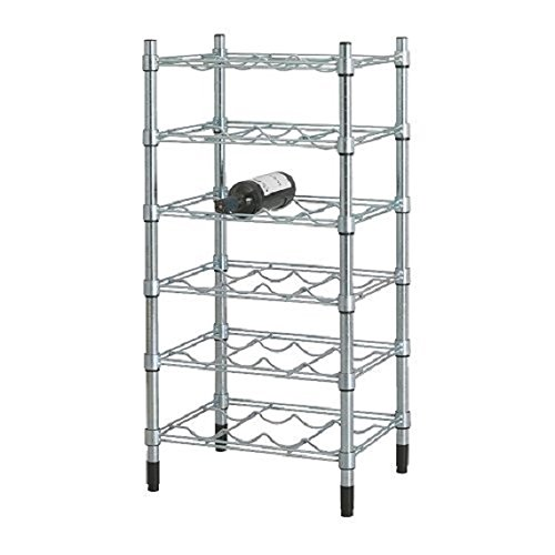 Bottle Wine Rack Stand shelving unit, galvanized (Ikea Wine Wall Rack compare prices)