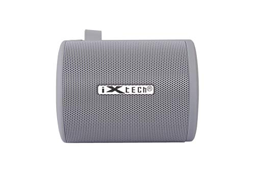 I-Xtech Bluetooth Speakers - Clear Sound - Portable Speaker Loud Sound, Rich Bass, 6-7 Hour Nonstop Playtime, High Bluetooth Range & Built-in Microphone Outdoor Wireless Speaker (Gray)