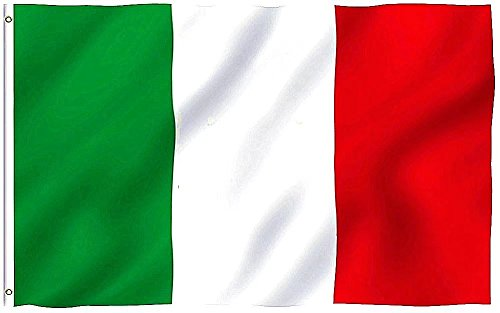 DANF Italy Flag 3x5 Foot Italian National Flags Polyester with Brass Grommets 3 X 5 Ft]()