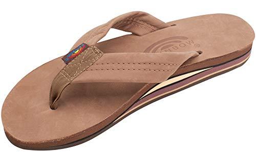 (Rainbow Sandals Women's Double Layer Premier Leather w/Arch, Dark Brown, Ladies Small / 5.5-6.5 B(M) US)