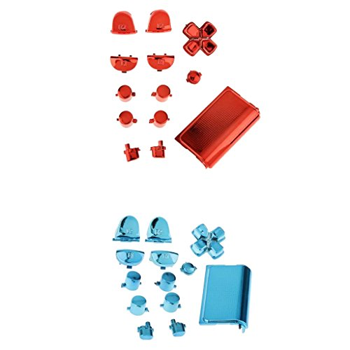 gazechimp 26-in-1 L1 L2 R1 R2 Trigger Button, ABXY D-pad Mod, Touch Pad Buttons Kit Parts for Sony PS4 Controller Accessories Bundle ()