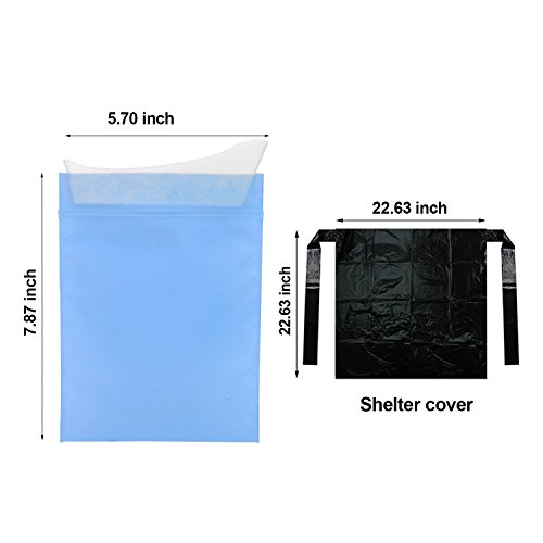 Disposable Urinal Bags4 Pack Emergency Unisex Urine Bag With Shelter CoverCar Mini Toilet Sickness BagTravel Collection Pee Bag2 In 1 Design For Vomit Or Urination For MenWomen Children